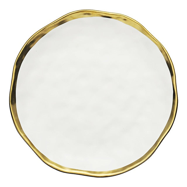 Gold Edges Ceramic Plate
