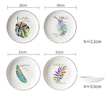 Load image into Gallery viewer, 4Pcs Green Plants Ceramic Tableware