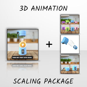 "3D Animation ""Scaling Package"""
