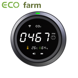 ECO Farm WIFI Monitor de CO2 con Detector de Dióxido de Carbono CO2