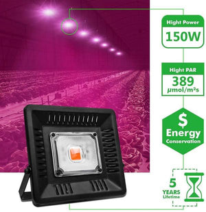 ECO Farm 50W COB LED Luz de Cultivo Roja Impermeable