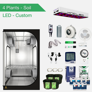 Kits De Cultivo Completos De LED Para 4 Plantas