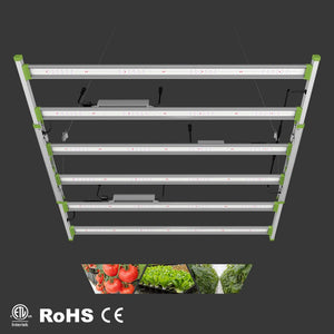 ECO Farm 680W LED Barras de Luz de Cultivo Impermeable con Chips Samsung 301B y 2 Canales Regulables