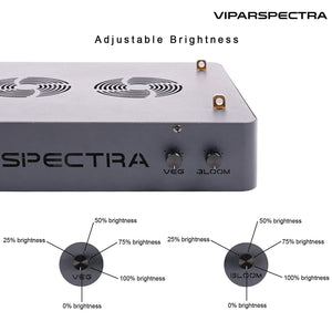 VIPARSPECTRA  Reflector Series DS600 600W LED Lámpara de Cultivo Regulable