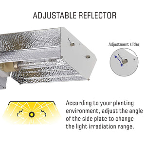 ECO Farm CMH 315W Reflector de Luz de Cultivo Ajustable- E-star Kit