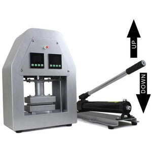 Free shipping on higher pressure twist design rosin dab press machine/rosin press machine dual heating oil extract rosin press