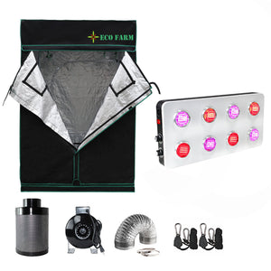 ECO Farm KIT de Cultivo Básico LED-GS800 150*150CM (5'* 5') para 6 Plantas