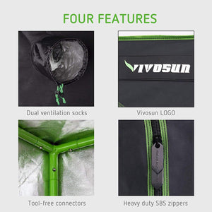 VIVOSUN 48X24X60 300W LED Grow Tent Kits