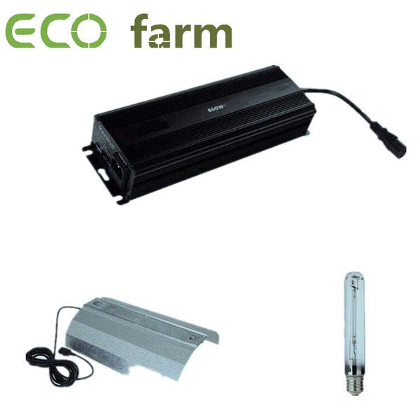 ECO Farm Kit de 600W Balastro Digital Regulable+Reflector+Bombilla Para Hidroponía