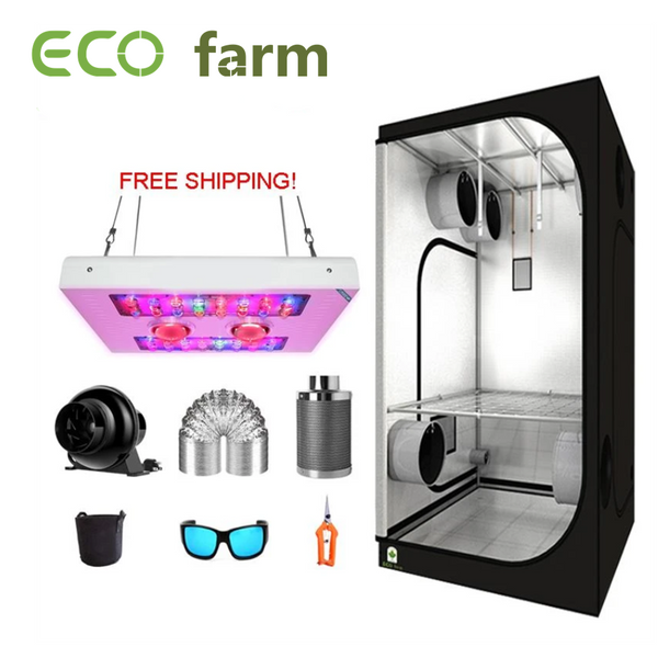 ECO Farm 100*100CM (3.3'x3.3') Kit Esencial de Armario de Cultivo- 440W X4 Series COB LED Grow Light Envío Gratis