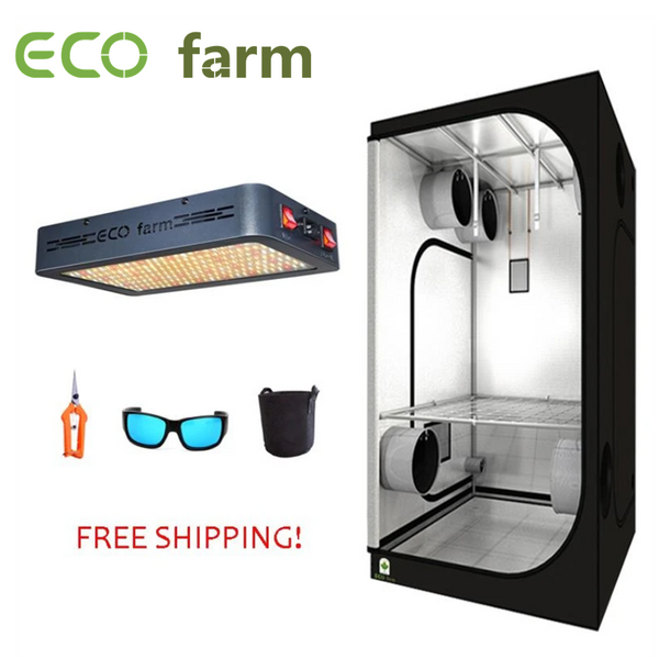 ECO Farm 2'x2' Kit de Cultivo Esencial con 120W LED Panel de Luz de Cultivo