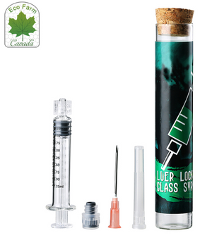 ECO Farm Jeringa de Vidrio Luer Lock 2.0 ML