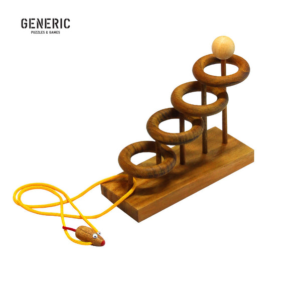 Orbits Wood & String Puzzle