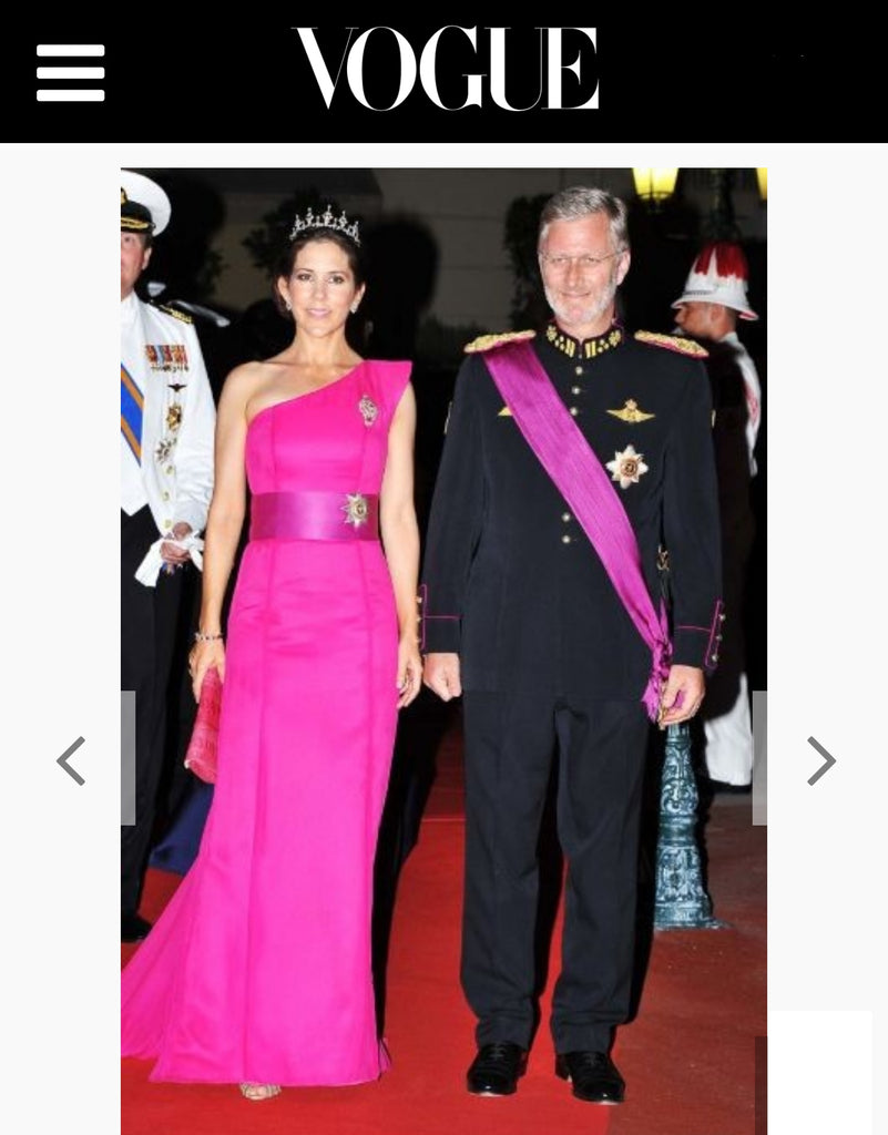 Crown Princess Mary with Naledi Copenhagen ostrich clutch Vogue Australia
