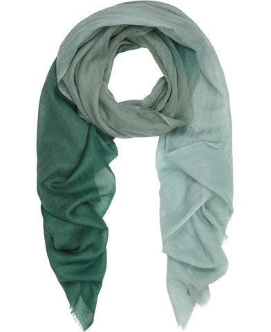 Aqua Ombre silk and fine wool scarf