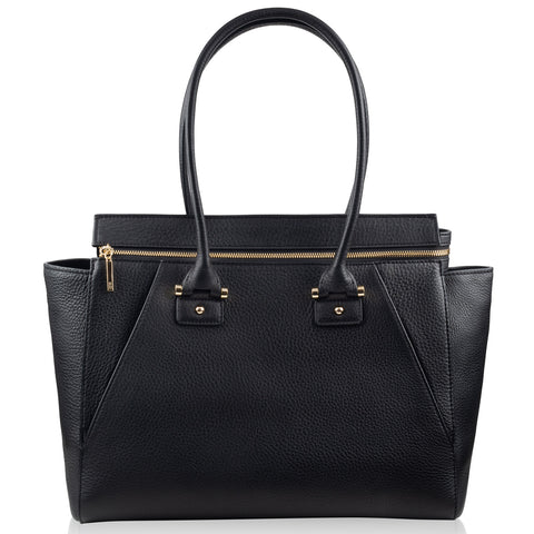 Olivia black & gold leather tote NEW IN