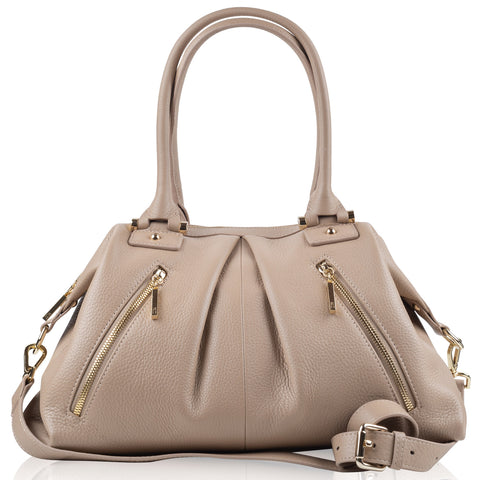 Victoria medium beige leather NEW ARRIVAL