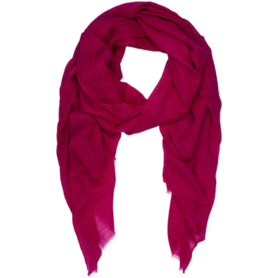 Rene 48 Magenta silk blend scarf BACK IN STOCK