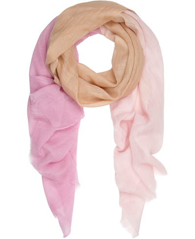 Delicate Ombre silk and fine wool scarf