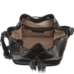 Claire Black Leather Bag