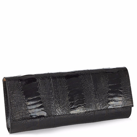 Diana Black Ostrich Clutch NEW SEASON