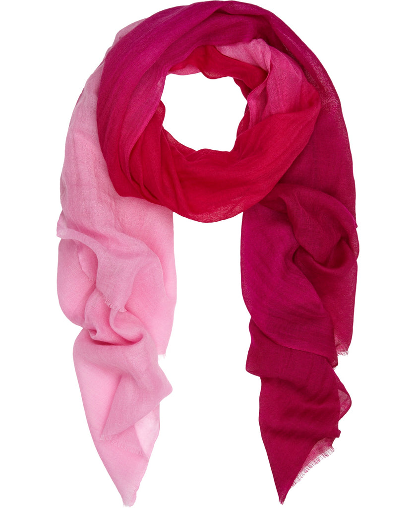 Gorgeous Ombre silk and fine wool scarf