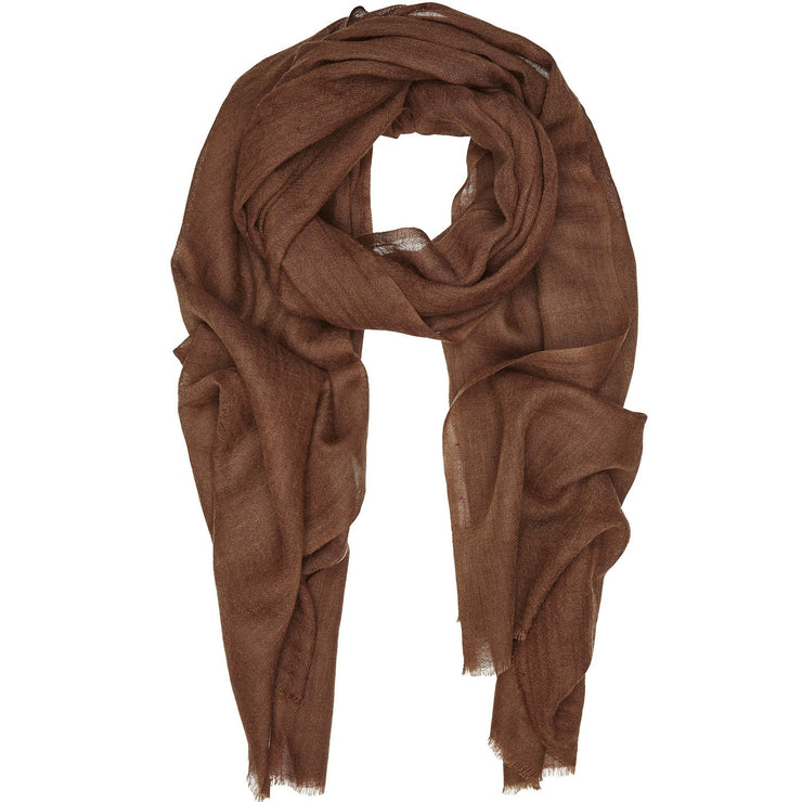 Rene 34 Pecan Pie silk blend scarf BACK IN STOCK