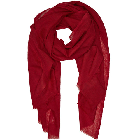 Rene 53 Rouge silk blend scarf