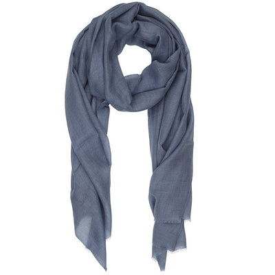 Rene 12 Dusty Blue silk blend scarf BACK IN STOCK