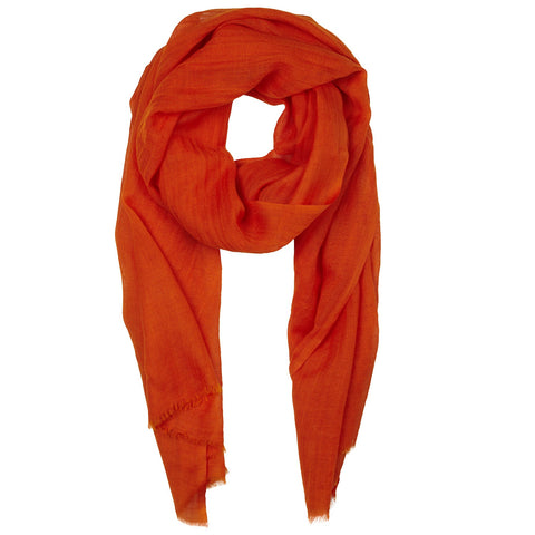Rene 57 Orange silk blend scarf