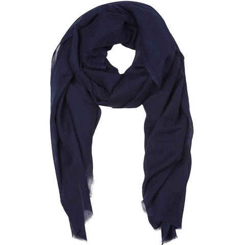Rene 17 Dark Navy silk blend scarf NEW ARRIVAL