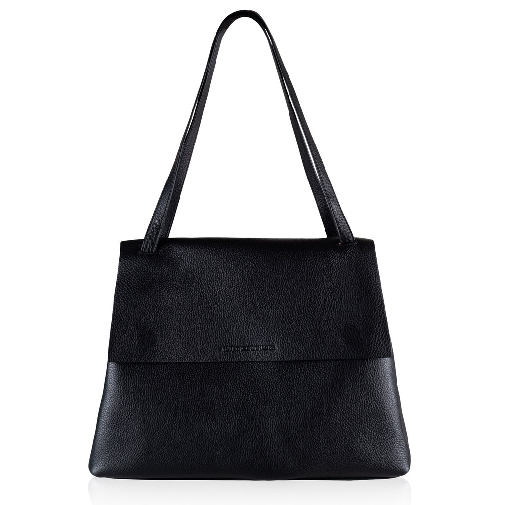 Alex black leather bag