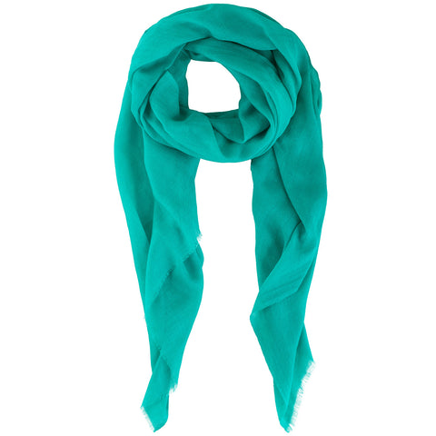 Rene 111 Tuquiose silk blend scarf NEW ARRIVAL