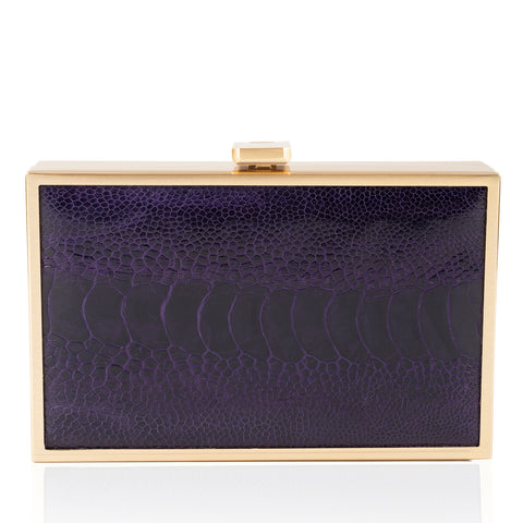 IRIS ostrich box clutch NEW SEASON