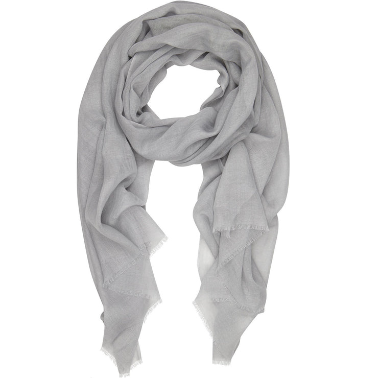 Rene 06 Pale Grey silk blend scarf NEW ARRIVAL