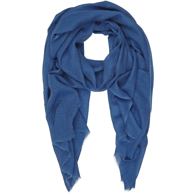 Rene 13 Copenhagen Blue silk and wool scarf