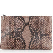 Arwen ginger python effect bag
