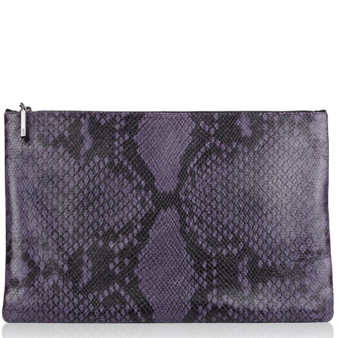 Arwen purple python effect bag