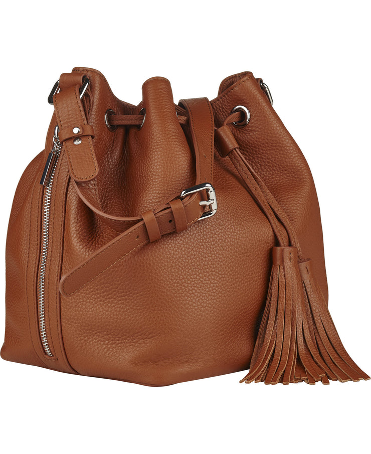 Claire Cognac Leather Bag NEW IN