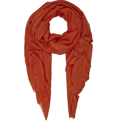 Rene 32 Burnt Orange silk blend scarf