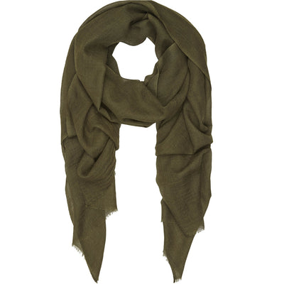Rene 28 Army Green silk blend scarf NEW ARRIVAL