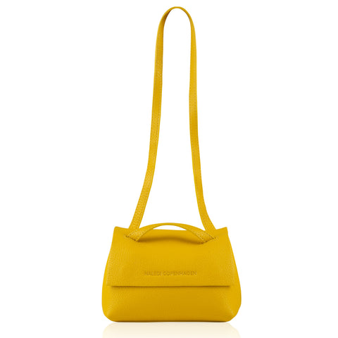 Alex Mini yellow leather bag SS19