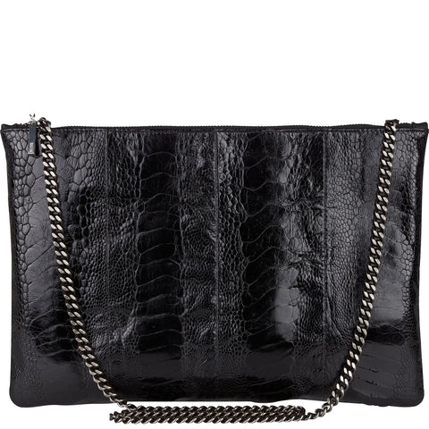 Arwen ostrich and leather bag