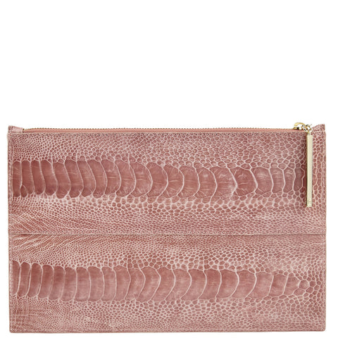 Leseli ostrich clutch - UNIQUE
