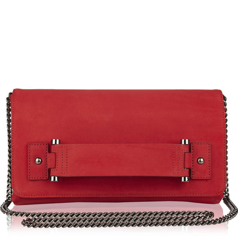 Sascha red nappa leather clutch - NEW ARRIVAL