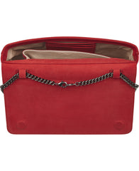 Sascha flame red ostrich bag NEW SEASON