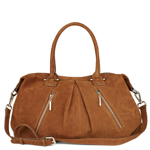 Victoria large cognac nubuck tote BACK IN STOCK