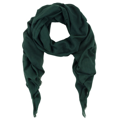 Rene 22 Deep Green silk blend scarf NEW ARRIVAL