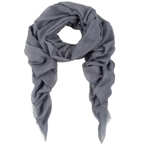 Rene 08 Light Grey silk blend scarf