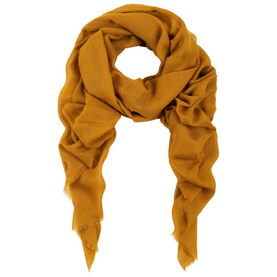 Rene 72 Hot Mustard silk blend scarf NEW ARRIVAL